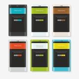 Ajustes en teléfonos coloridos Imágenes de archivo libres de regalías