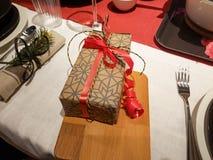 Ajustes festivos de la tabla de la estación Imagen de archivo
