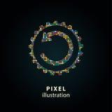 Ajustes - ilustração do pixel Imagens de Stock Royalty Free