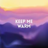 Ajustez le fond brouillé de montagne - couleurs de coucher du soleil avec la citation illustration stock
