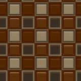 Ajustez le modèle sans couture coloré de vecteur de tuile mozaic en verre de chocolat Photos stock