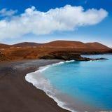 Ajuy beach Fuerteventura at Canary Islands Stock Photography