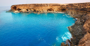 Ajuy beach Fuerteventura at Canary Islands Royalty Free Stock Images