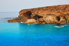Ajuy beach Fuerteventura at Canary Islands Royalty Free Stock Photos