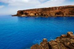 Ajuy beach Fuerteventura at Canary Islands Royalty Free Stock Photography