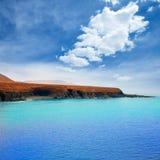 Ajuy beach Fuerteventura at Canary Islands Stock Photos