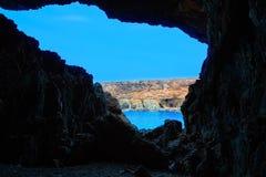 Ajuy Caleta Negra beach in Fuerteventura Stock Photo