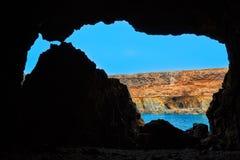 Ajuy Caleta Negra beach in Fuerteventura Royalty Free Stock Images