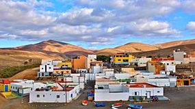 Ajuy Fishing village. At Fuerteventura Stock Photography