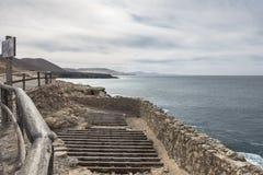 Ajuy in oostelijke Fuertaventura stock foto