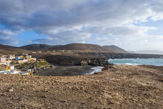 Ajuy - picturesque village on Fuerteventura Stock Photography