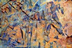 Ajuy stone textures in Fuerteventura Stock Photography