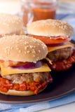 Ajvar burger Stock Image