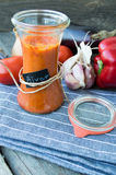 Ajvar, a delicious red pepper and eggplant dish Royalty Free Stock Photography