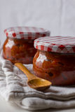 Ajvar, roasted red pepper and eggplant spread Royalty Free Stock Photography