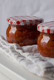 Ajvar, roasted red pepper and eggplant spread Royalty Free Stock Photos