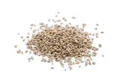 Ajwain Seeds. Isolated on white background Stock Photo