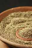 Ajwine or Carom Seeds is an uncommon spice used for flavouring Stock Photography