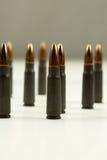 Ak-47 κοίλη σφαίρα 7 σημείου κασετών τουφεκιών περίληψη πλάγιας όψης 62x39mm Στοκ φωτογραφία με δικαίωμα ελεύθερης χρήσης