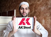 AK λογότυπο εκμετάλλευσης χάλυβα Στοκ Εικόνα
