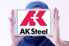 AK λογότυπο εκμετάλλευσης χάλυβα Στοκ Εικόνες