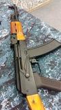 AK-47卡拉什尼科夫武器特写镜头 库存照片