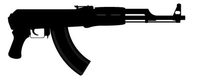 AK-47卡拉什尼科夫 免版税库存图片