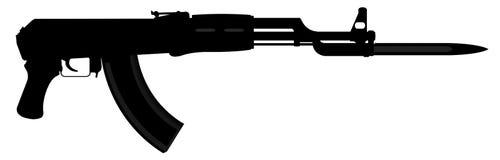 AK-47卡拉什尼科夫 库存图片