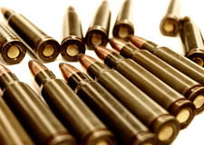 AK-47 (7.62 mm) cartridge Royalty Free Stock Image