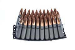AK 47 ammo with mag Stock Images