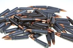 AK 47 ammo with mag Stock Photos
