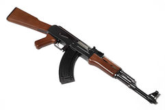 Ak-47 (replica) on white background 1 Stock Images