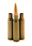 Ak-74 munitie Royalty-vrije Stock Afbeeldingen