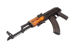 Ak47 airborn version assault rifle Stock Image