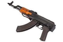 Ak47 airborn version assault rifle on white Royalty Free Stock Photos