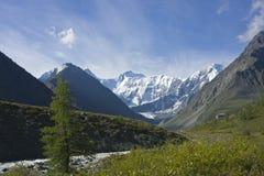ak altai在河俄国附近的belukha kem mt 免版税图库摄影