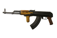 AK47 Assault Rifle. A Vintage Military AK47 Assault Rifle with Folding Stock Royalty Free Stock Photos