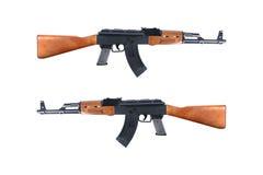 Ak47 automatic shotgun toy isolated on white Stock Image