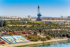 AK47-Bajonettdenkmal nahe Ismailia, Ägypten Lizenzfreies Stockfoto