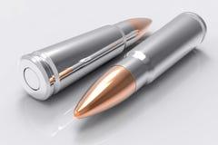 AK47 Bullet. Realistic AK47 Bullet Background Stock Photography