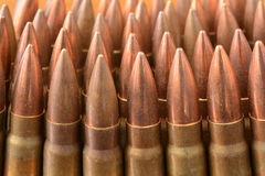 AK-47 bullets close up Stock Image