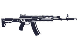 AK-12. Complex silhouette. Vector illustration Stock Photography