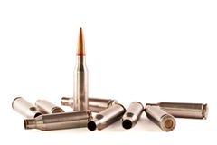 AK Gewehrkugel und Shells stockfotos