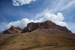 Ak-Kaja mountain near Bezengi. Big stone mountain near Bezengi village. View from Krestovii pass royalty free stock image