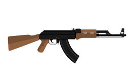 AK-47 kalashnikov assault rifle. Vector illustration of AK-47 kalashnikov assault rifle Stock Photography