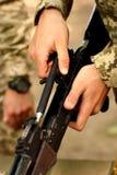 AK-47 Kalashnikov weapon Stock Image