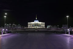 Ak Orda Palace at night Stock Photos