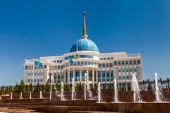 The Ak Orda Presidential Palace, Kazakhstan, Astana, Royalty Free Stock Images
