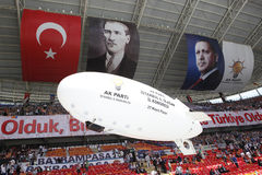 AK Party' s fourth ordinary congress in Istanbul Royalty Free Stock Photography