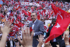 AK Party' s fourth ordinary congress in Istanbul Royalty Free Stock Images